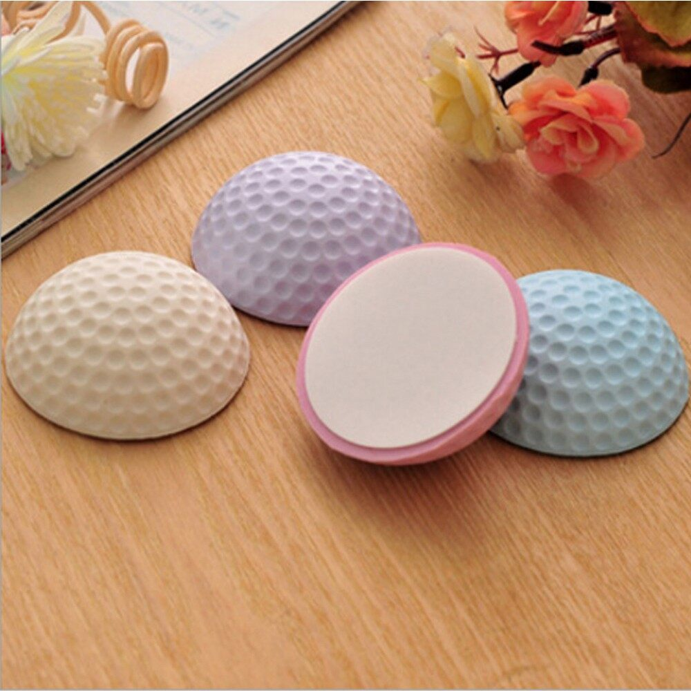 Mirrors & Wall Art - 2 PIECE(s) Golf Ball Styling Rubber Anti-collision Mat Table Corner Protection Pad Rou - PURPLE / BLUE / PINK / WHITE
