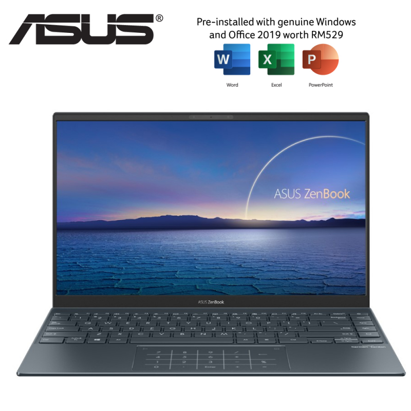 ASUS ZENBOOK UX425J-AB688TS INTEL CORE I5-1035G1 8GB DDR4LP ONBOARD 512GB SSD INTEL HD W10 14