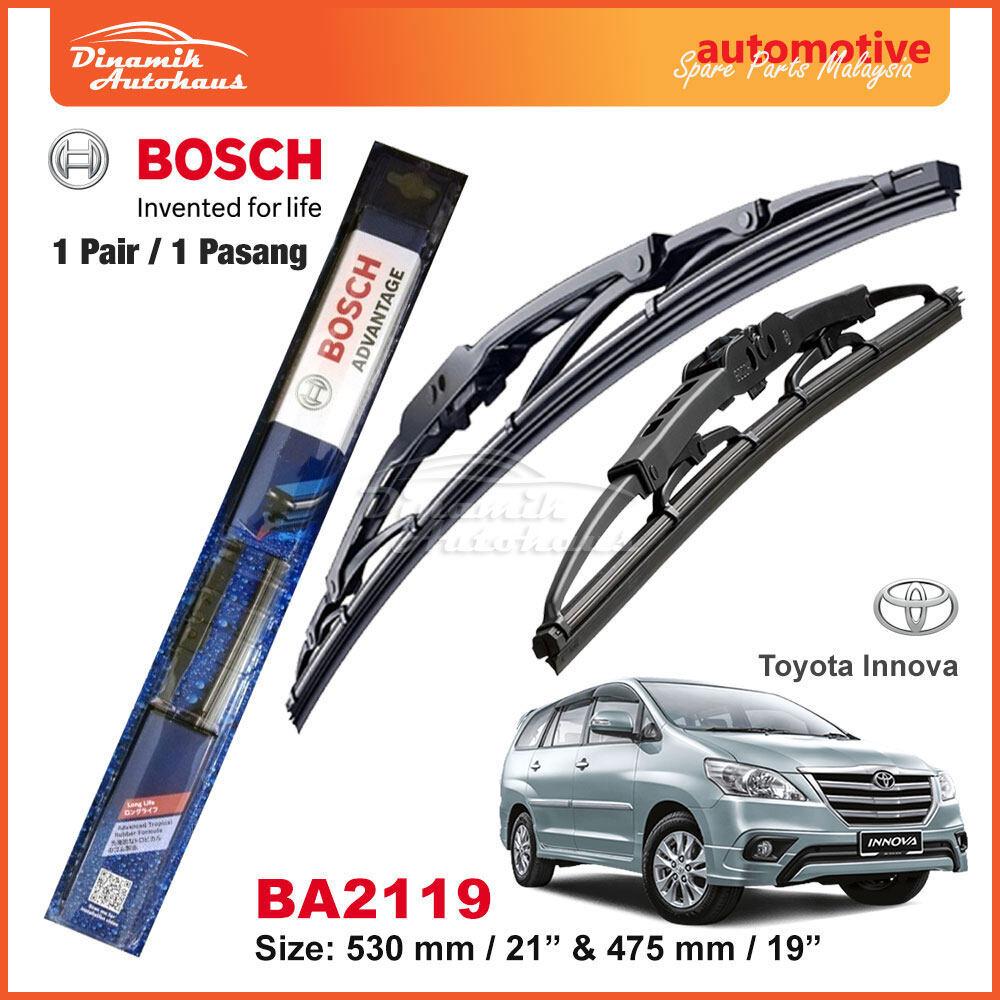 "Toyota Innova Car Windshield Wiper Blade 21"" / 19"" Bosch Advantage BA2119"