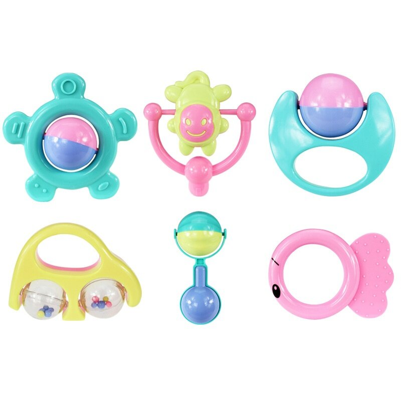 6 Pieces 10 Pieces or 14 Pieces of Newborn Baby Bell Toy Set Puzzle Early Educational Hand Bells