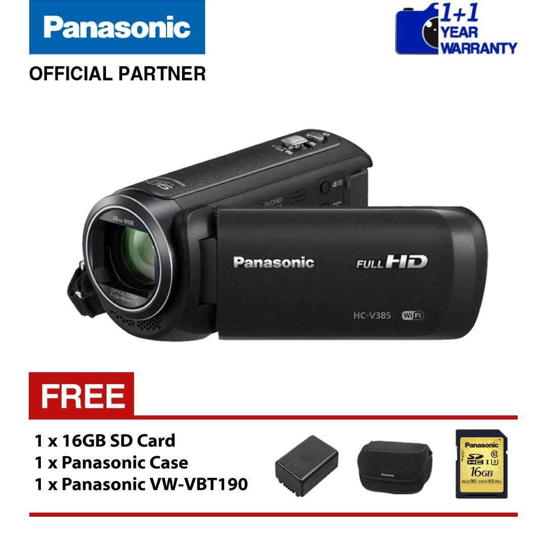 Panasonic HC-V385 Full-HD Camcorder (Black)