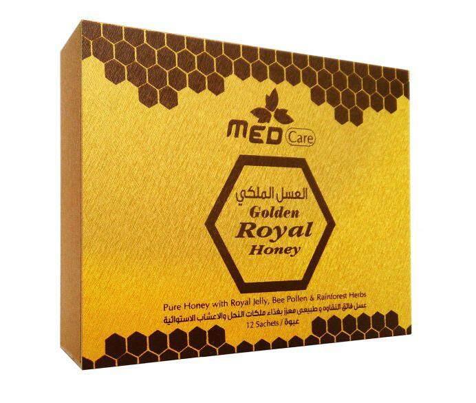 med care golden royal honey 10g X 24 sachets, wooden box