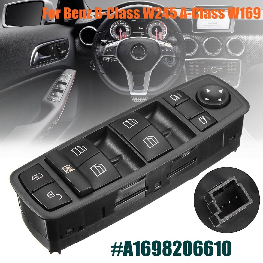 Windscreen Wipers & Windows - Car Window Control Master Switch for Benz B-Class W245 2005-2011 A-Class W169 - Car Replacement Parts