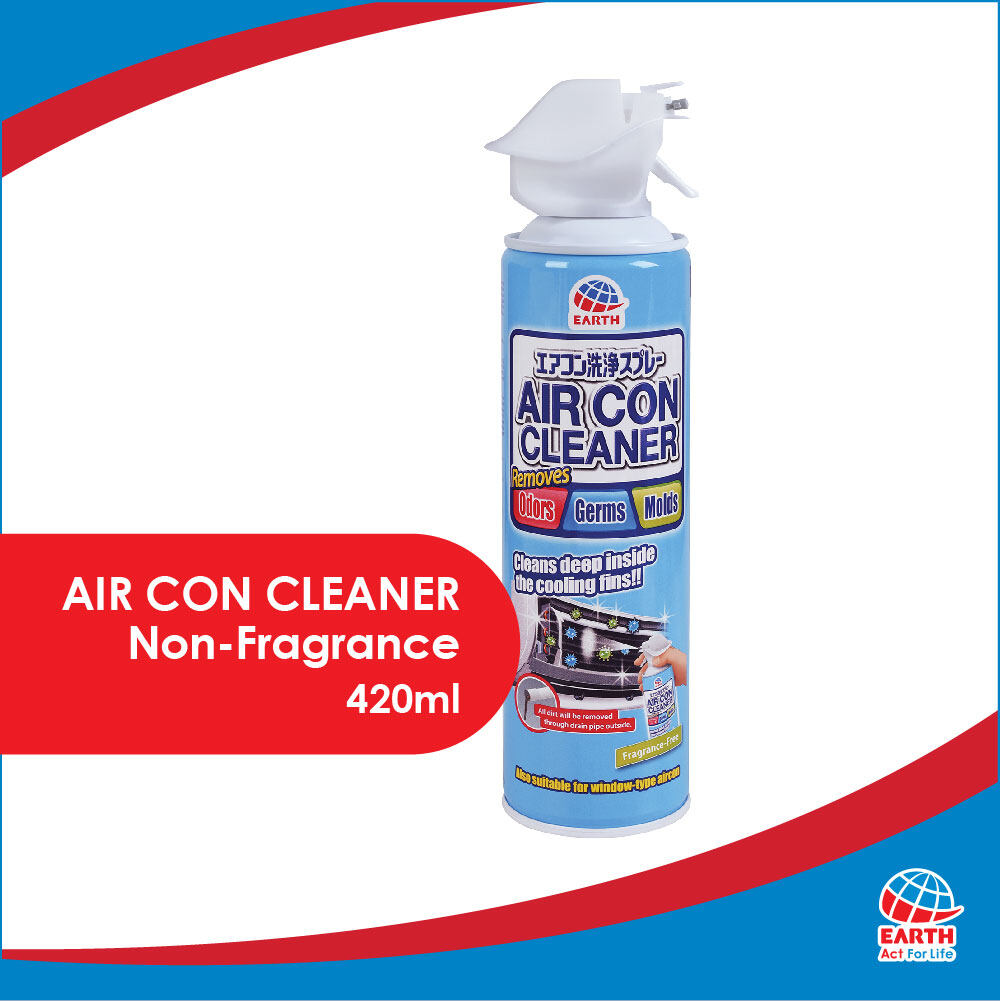 Earth Anti-Bacterial & Fragrance-Free Air Con Cleaner Spray (420ml)8850273251010