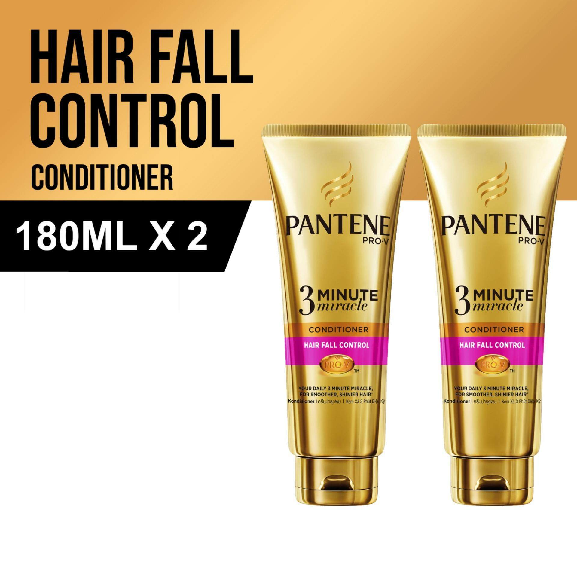 Pantene Pro-V 3 Minute Miracle Conditioner Hair Fall Control 180ml [Bundle of 2]