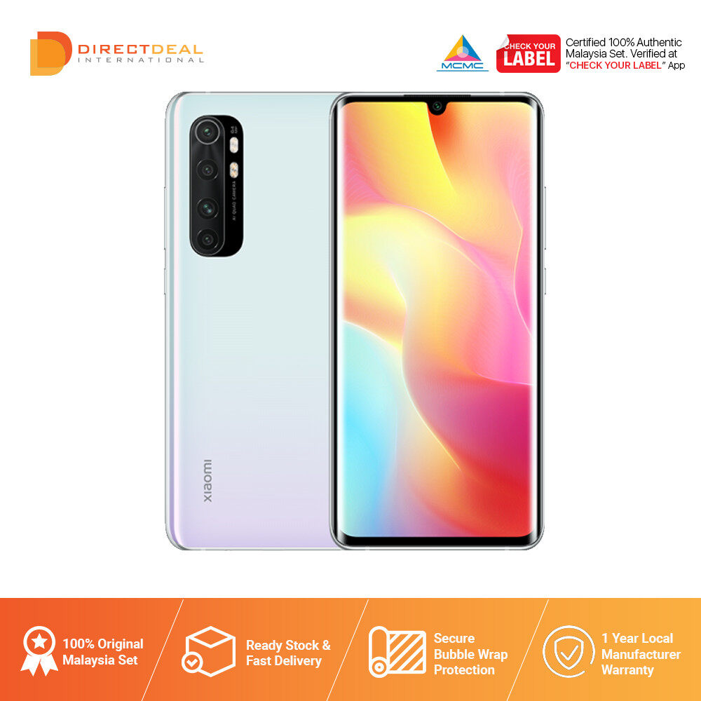 [READY STOCK] Xiaomi Mi Note 10 Lite 8GB+128GB Smartphone - 1 Year Warranty By Xiaomi MY (MY SET)