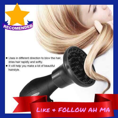 1Pc Hair Diffuser Professional Hair Dryer Blow Diffuser Hood Hairdressing Curling Hair Styling Tools Salon Hairstyling Accessory (Black)