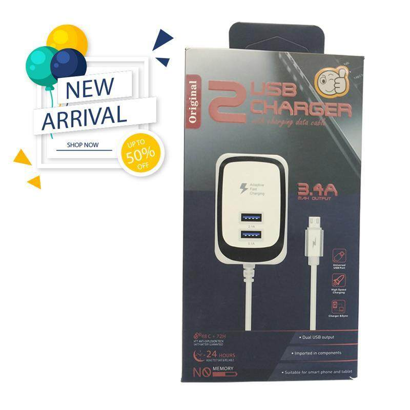 2 USB CHARGER WITH CHARGING DATA CABLE