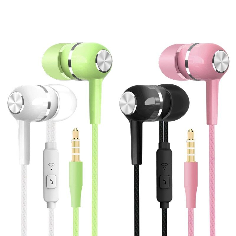 In-ear Headphones Sport Earphone Wired Bass 3.5mm Head SET with Mic Handfree for - BLACK-BASIC EDITION / BLACK-UPGRADED / WHITE-BASIC EDITION / WHITE-UPGRADED / PINK-BASIC EDITION / PINK-UPGRADED / GREEN-BASIC EDITION / GREEN-UPGRADED