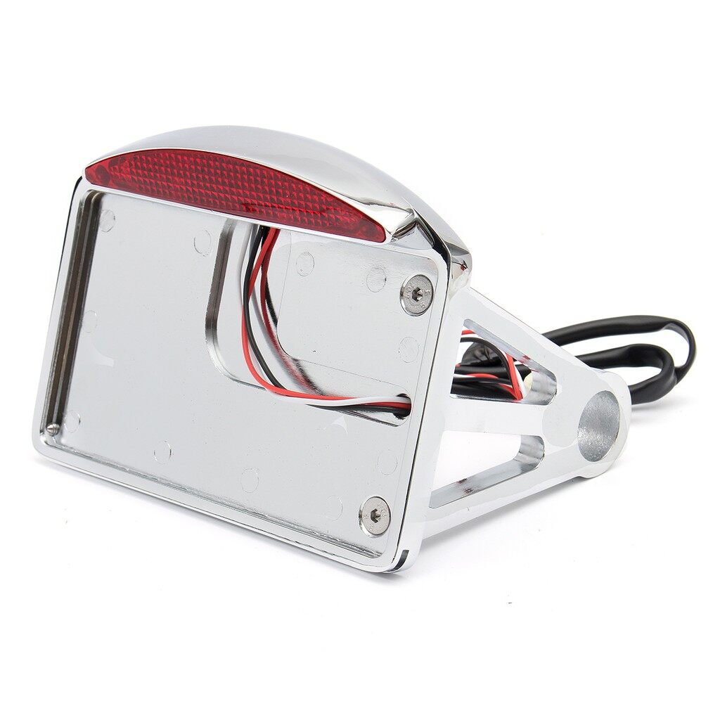 Car Lights - Horizontal Side Mount License Plate Tail Light Harley - Replacement Parts