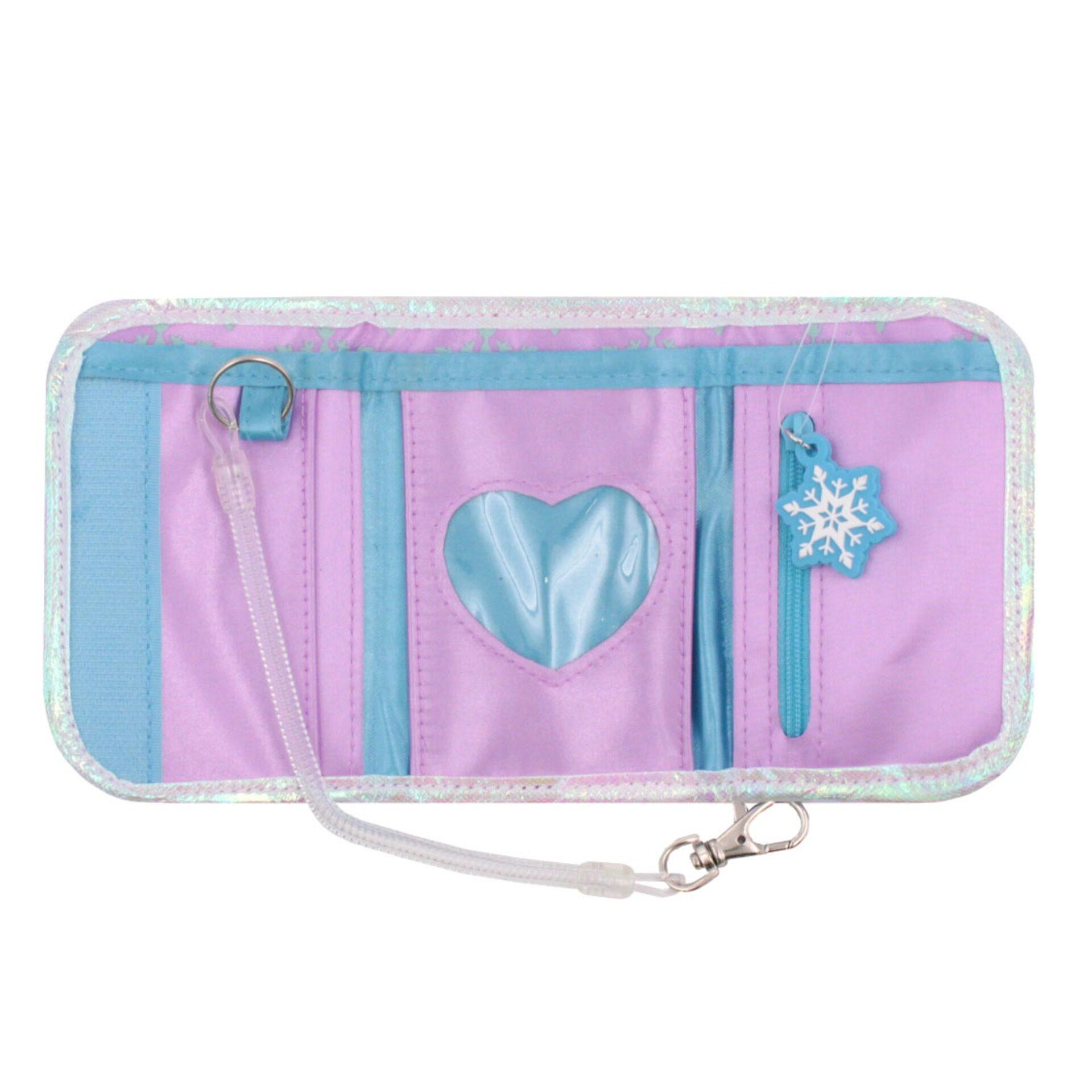 Disney Frozen 2 Princess Elsa & Anna Girls 3 Fold Wallet (Light Purple)