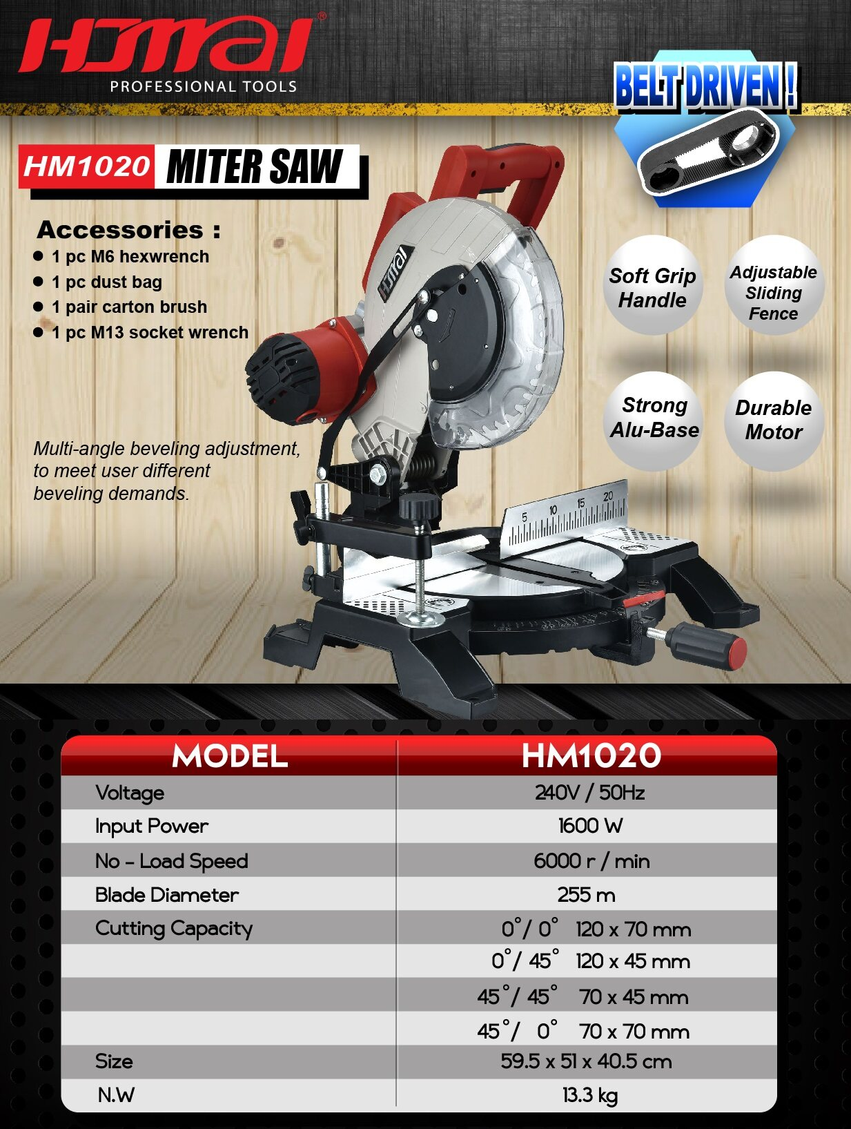 10 inch miter saw cut off saw power tool level cutter disc lock bench roller slicer speed pressure motor slice roll blade metal aluminium profile auto up down press down move angle side slide grinder drill cutting high wheel base control measure support