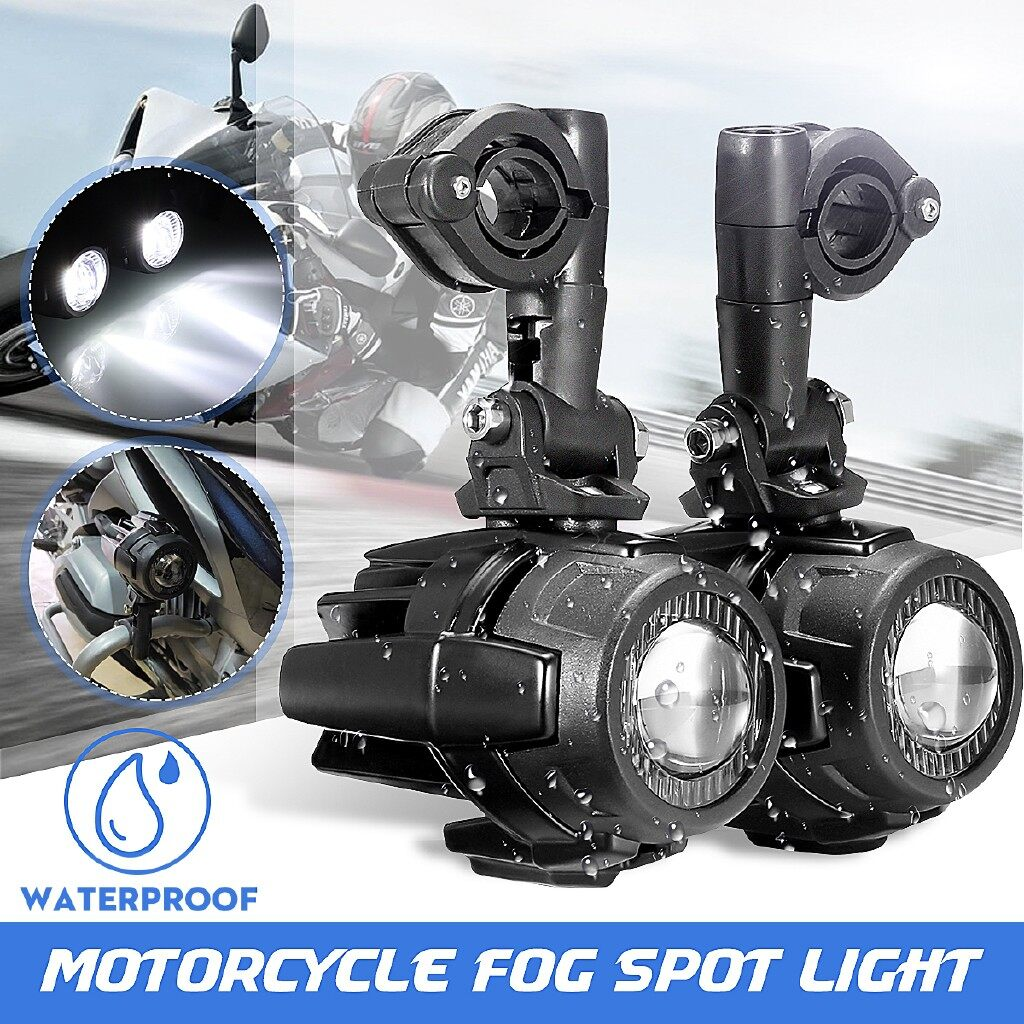 Car Lights - Pair 60W LED Auxiliary Fog Light Driving Spot Beam Lamp For BMW R1200GS F800GS - Replacement Parts