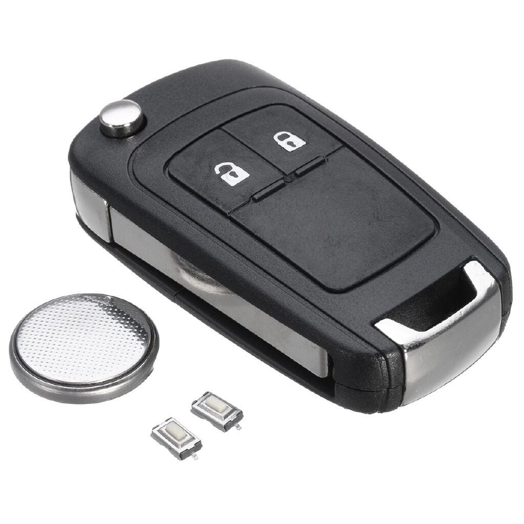 Automotive Tools & Equipment - 2 Buttons Remote Key Fob Case Shell Battery For Vauxhall Opel Astra Insignia - Car Replacement Parts