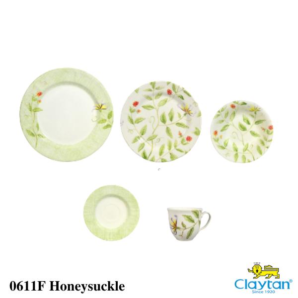 Claytan Tableware- 20pcs Dinner Set- Honeysucklw