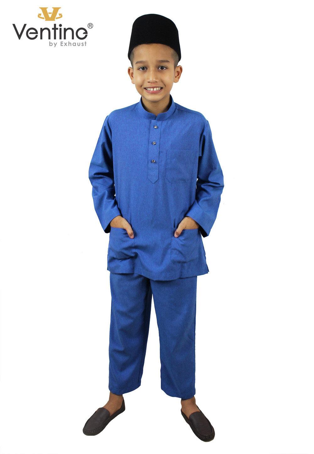Ventine Baju Melayu Modern-SLIM FIT V2200-BMM(S)B#7-14-40