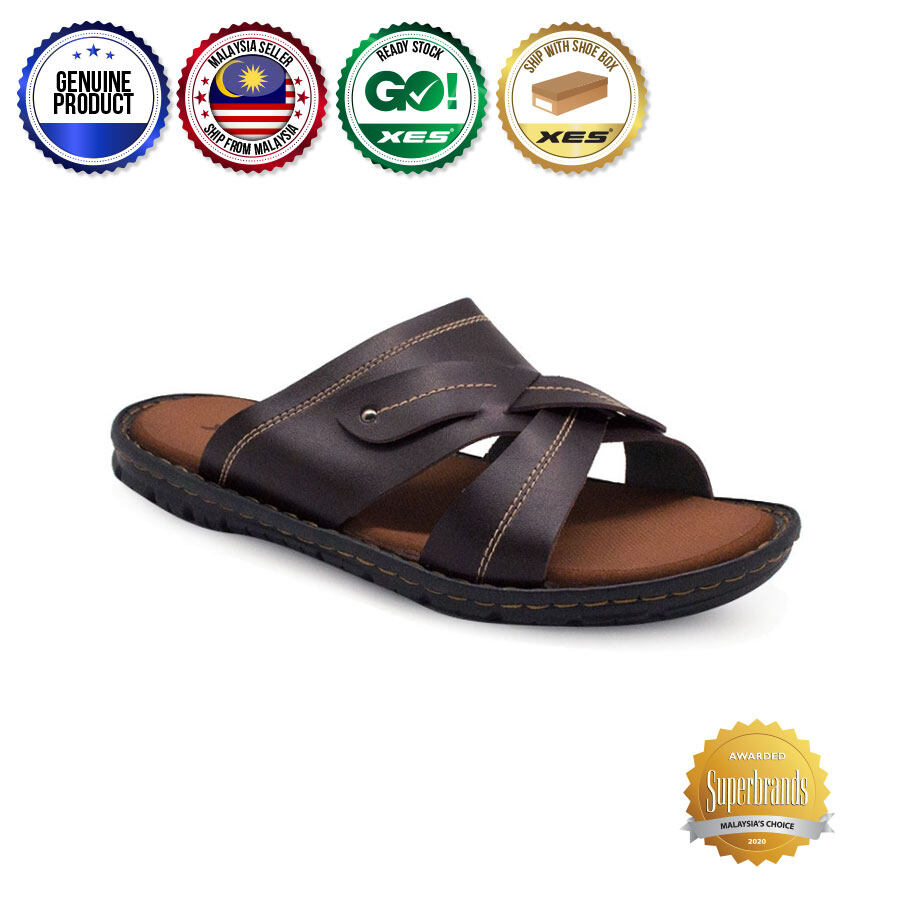 XES (Mens) MM20589 Top Strap Black/Brown