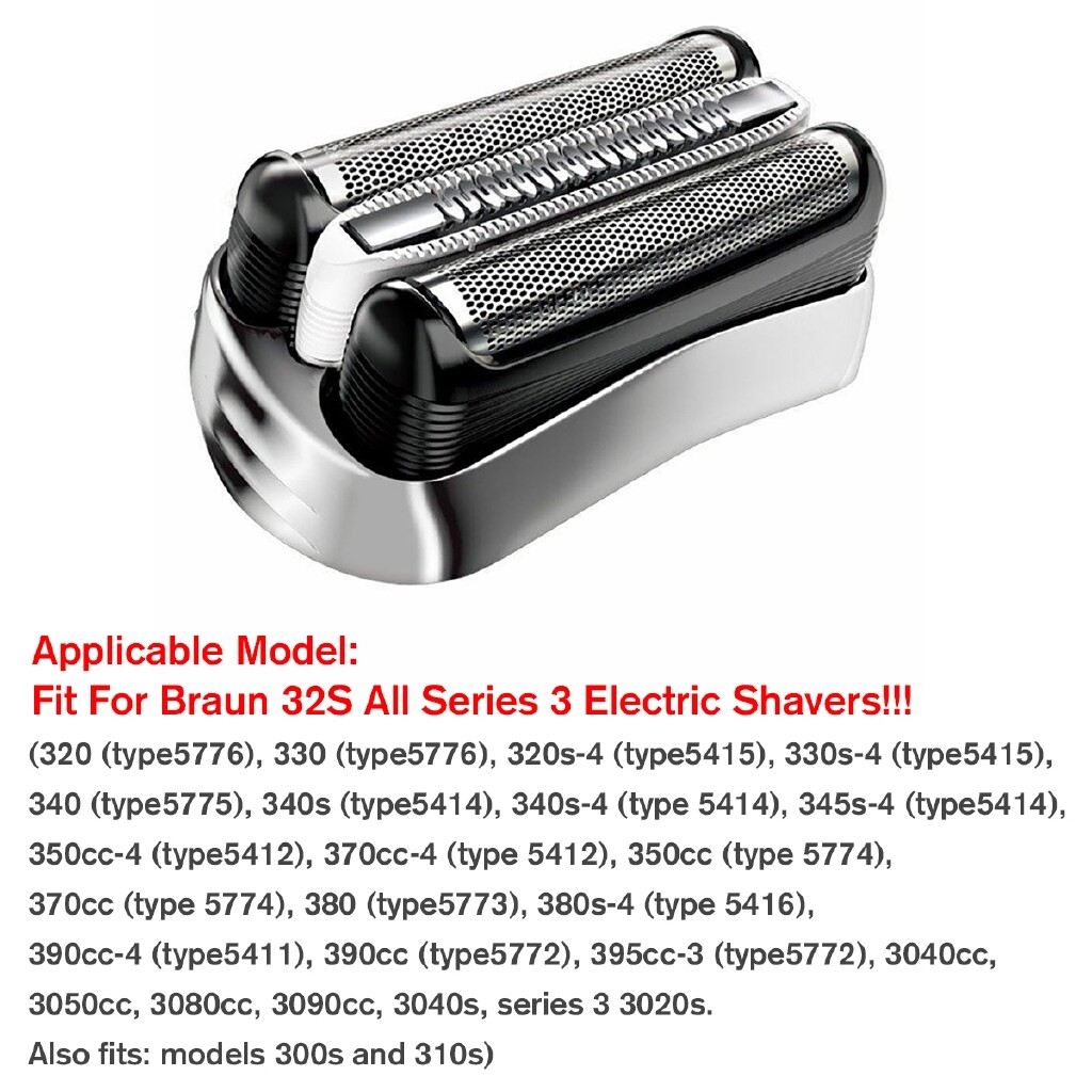 DIY Tools - For Braun 32S All Series 3 320s 330s Electric Shavers Replacement Shaver Foil - Home Improvement