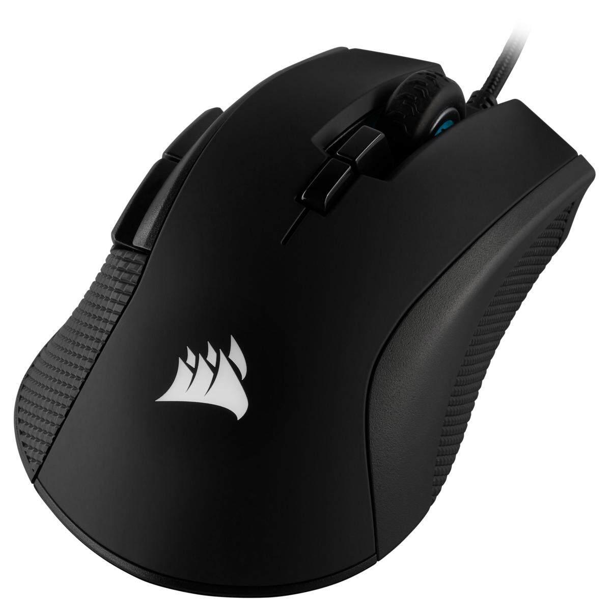 Corsair Ironclaw RGB FPS/MOBA Gaming Mouse- Black, Backlit RGB LED, 18000 DPI, Optical