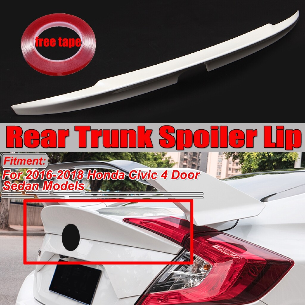 Engine Parts - For 10th Honda CIVIC 2016- Sedan ABS MCX Duckbill Rear Trunk Spoiler Wing - Car Replacement