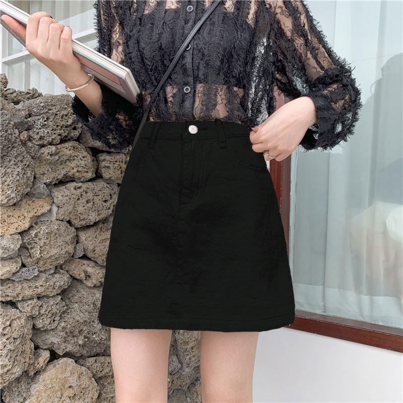 (Pre Order 14 Days) JYS Fashion Korean Style Women Jeans Skirt Collection col538-1226-dark blue-52xl