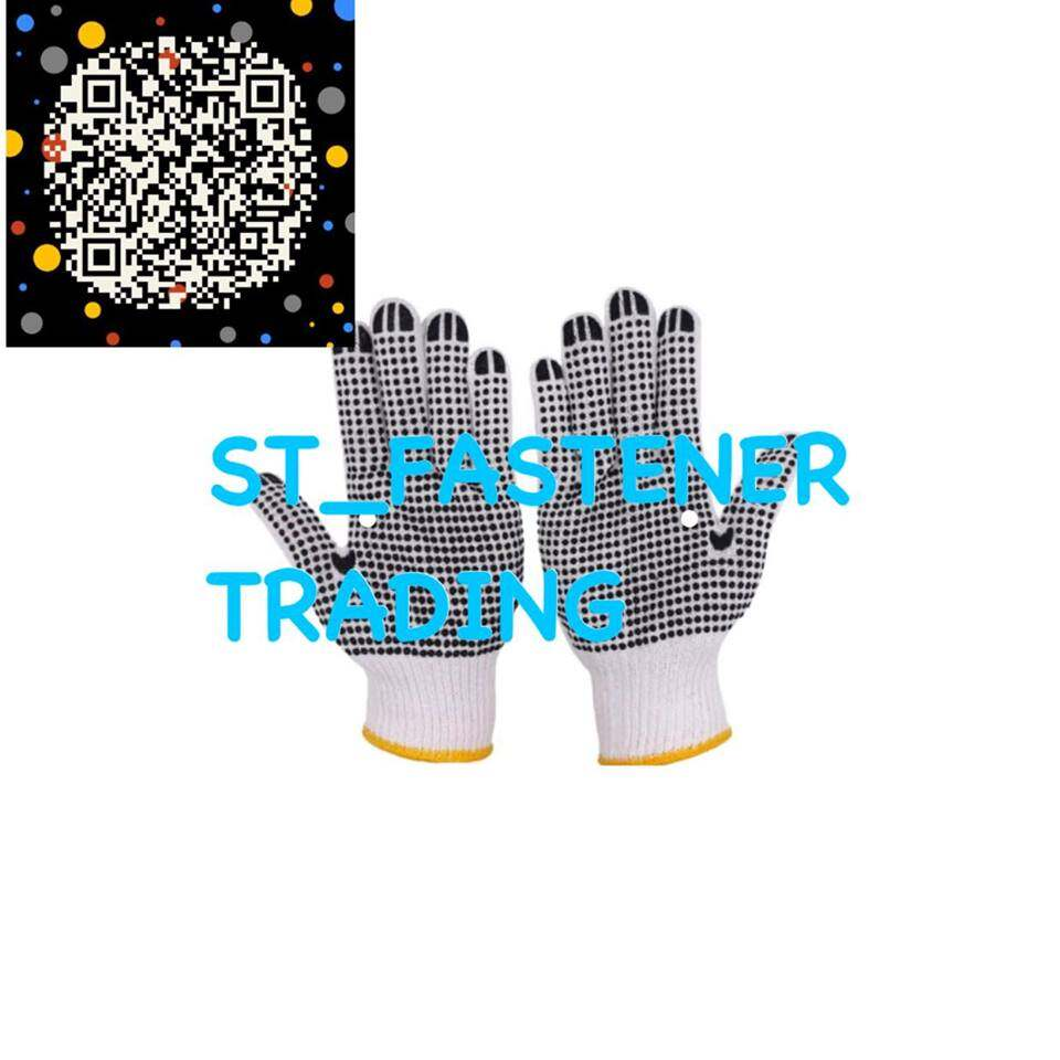 660G x 1Pair Anti-slip Gloves With Rubber Dots Hand Protective Gloves For Labor Working