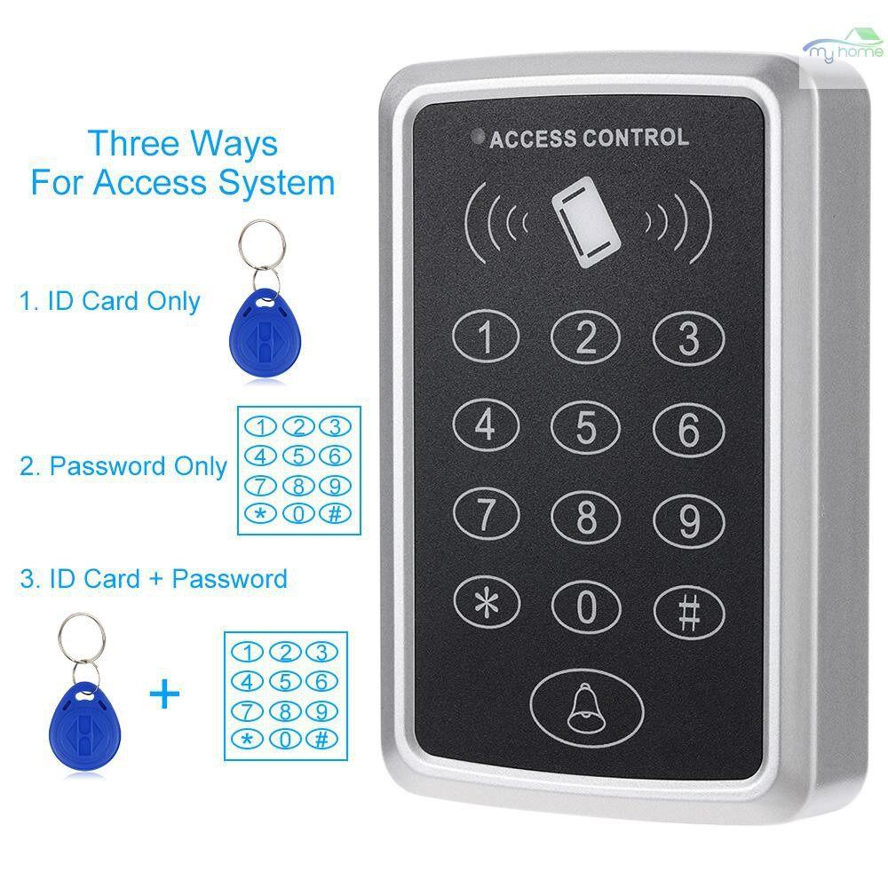 DIY Tools - 125KHz Single Door Proximity RFID Card Access Control System Keypad Include 10 PIECE(s) ID Keyfobs - BLACK