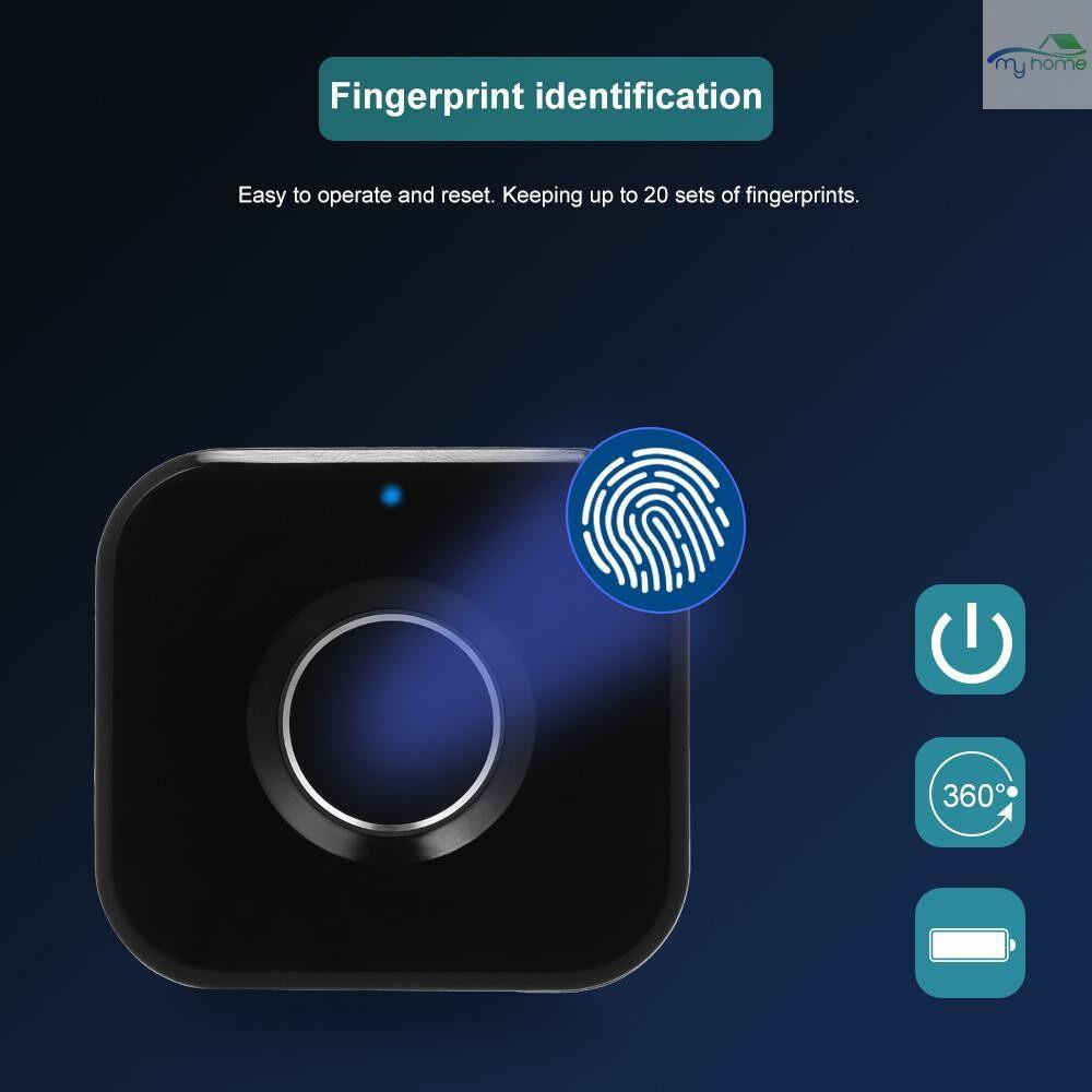Chains & Locks - Smart Keyless Fingerprint Cabinet Lock Biometric Electric Lock MINI PORTABLE Fingerprint Drawer - BLACK-RIGHT SIDE / BLACK-LEFT SIDE