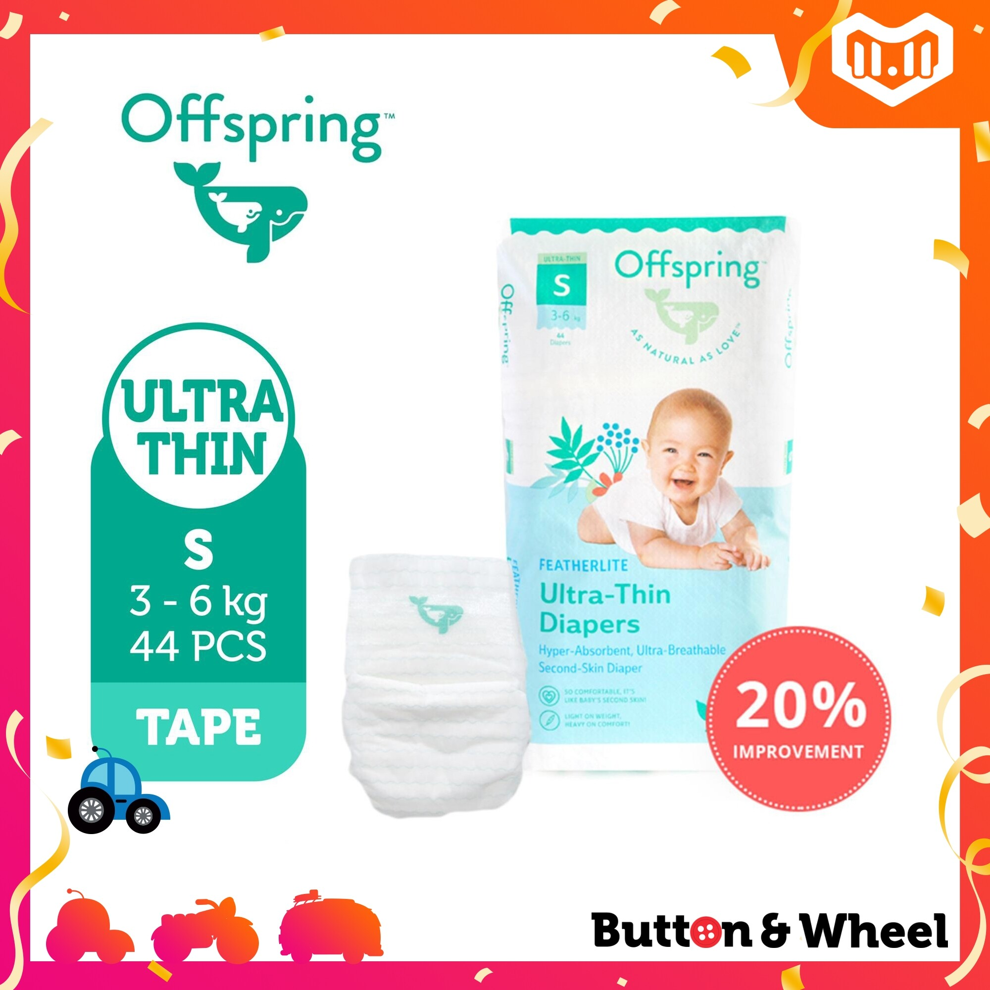 Offspring ULTRA-THIN TAPES 44S:OI-UT-T-44S