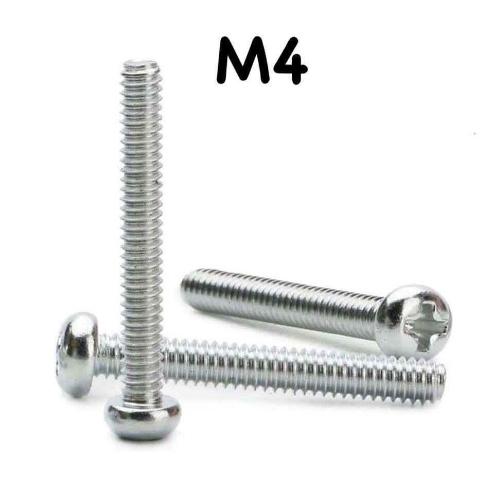Phillips Round Pan Head Machine Screws ( M4 x 20MM - M4 x 60MM ) 1 Pair = 30 Pcs