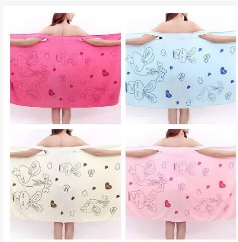 Magic Bath Towel Microfiber Shower Spa Home Wear Bathrobe Dress Tuala Mandi Dewasa & Budak