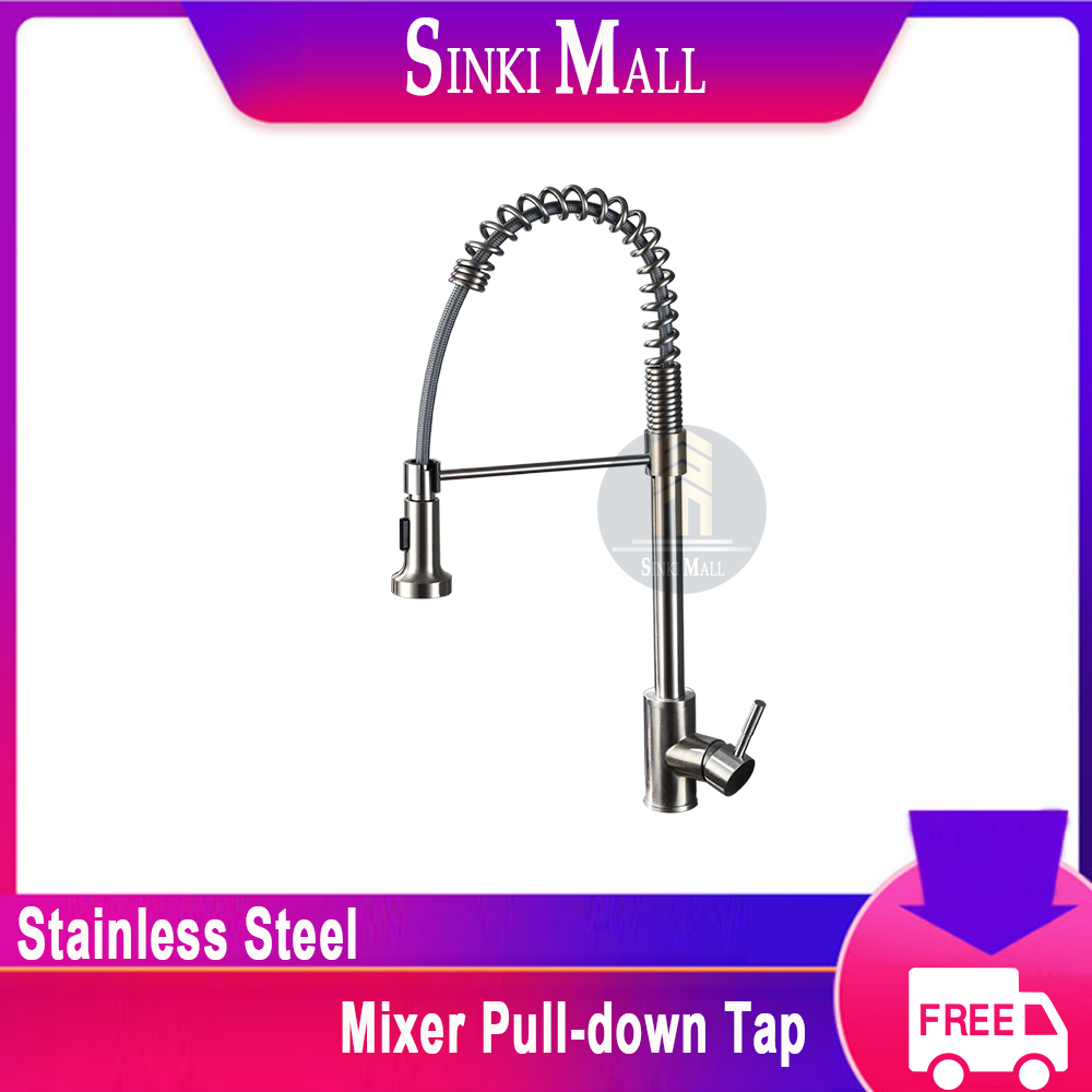 SUS304 Stainless Steel Flexi Spray Kitchen Sink Basin Mixer with Flexible / Movable Multi-Function Spray Tap Faucet