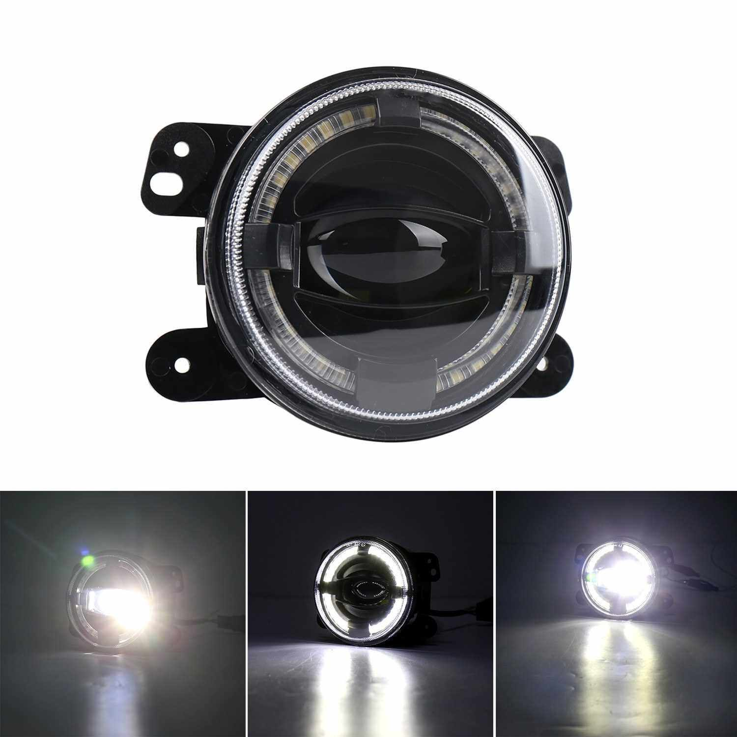 Best Selling 2pcs 30W 12V LED Car Fog Lights Driving Offroad Lamp Front Bumper Light Replacement for Jeep Wrangler 1997-2017 (Standard)