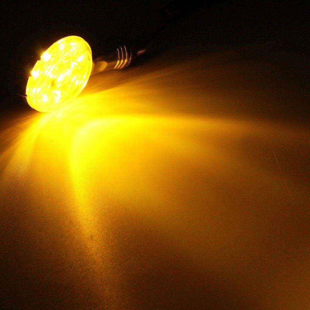 Car Lights - Pair Chrome Skull Skeleton LED Turn Signal Indicator Light For Harley-Davidson - Replacement Parts