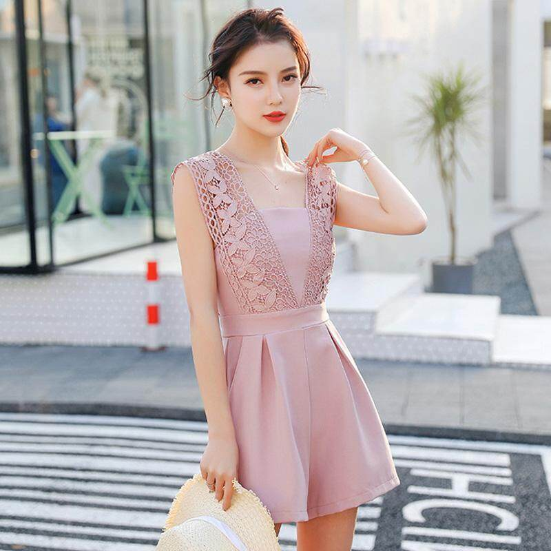 (Pre Order14 Days JYS Fashion Korean Style Women Jumpsuit Collection -5296278col529-6278--Pink -S