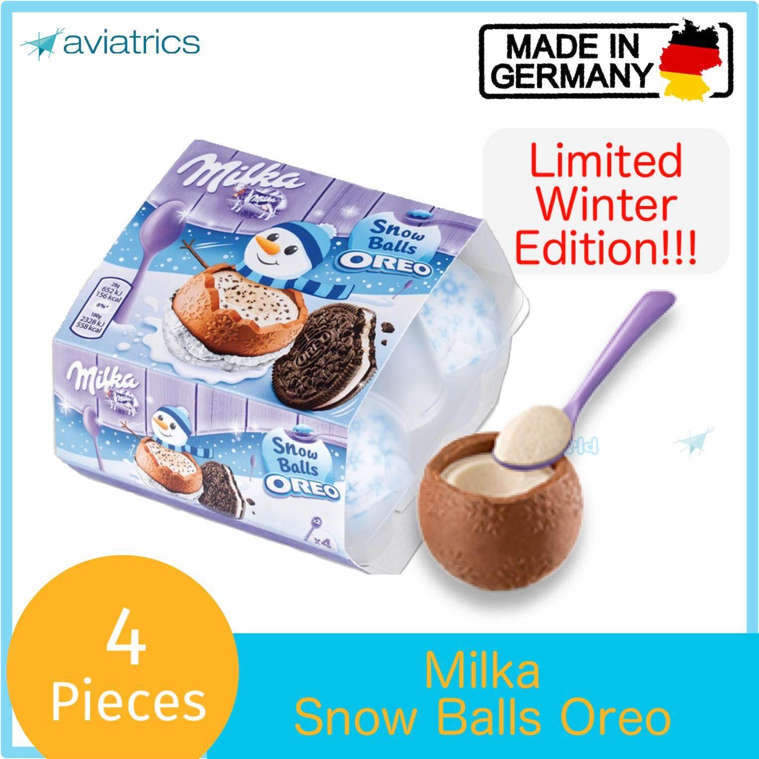 Milka Oreo Snow Ball Chocolate 4pc 112g (Made in Germany)