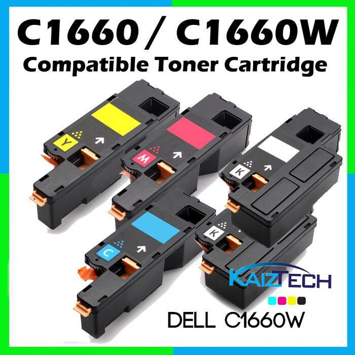 AAA Super Grade DELL C1660w CYMKK (2 Unit Black + Cyan + Magenta + Yellow) Premium Compatible Toner Cartridge  C1660 1660