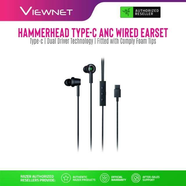 GENUINE Earphone Razer Wired Hammerhead Pro V2 Gaming (RZ04-01730100-R3A1)