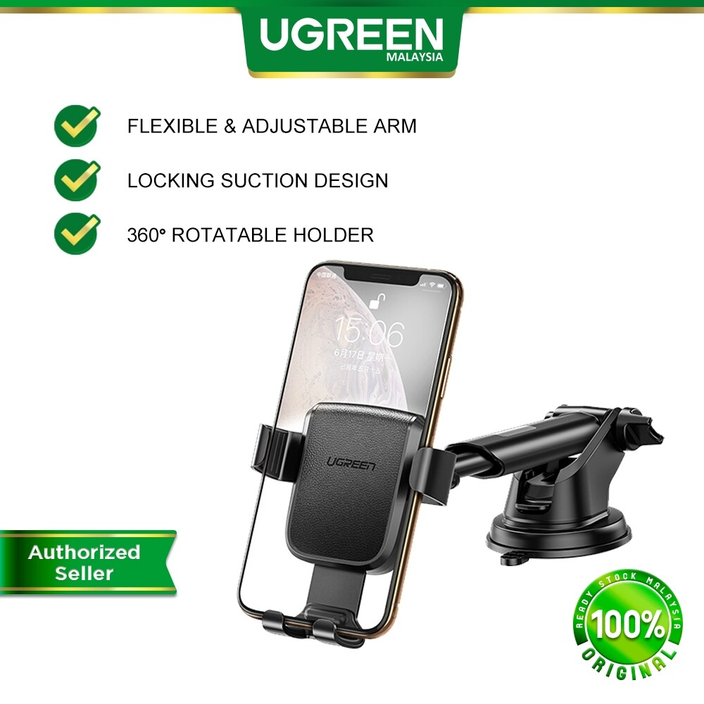 UGREEN Car Phone Mount Suction Cup Dashboard Car Holder Windshield Smartphone Cradle Strong Suction for i-Phone 11 Pro Max XS Samsung Galaxy S10+ S9 S8 Note 9 8 LG G8X G7 V50 Huawei