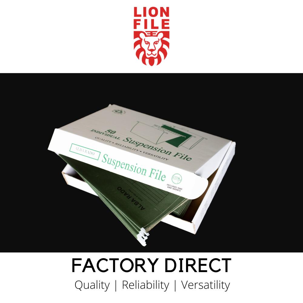 ALBA RADO Tinted Green Suspension File (50pcs/box)