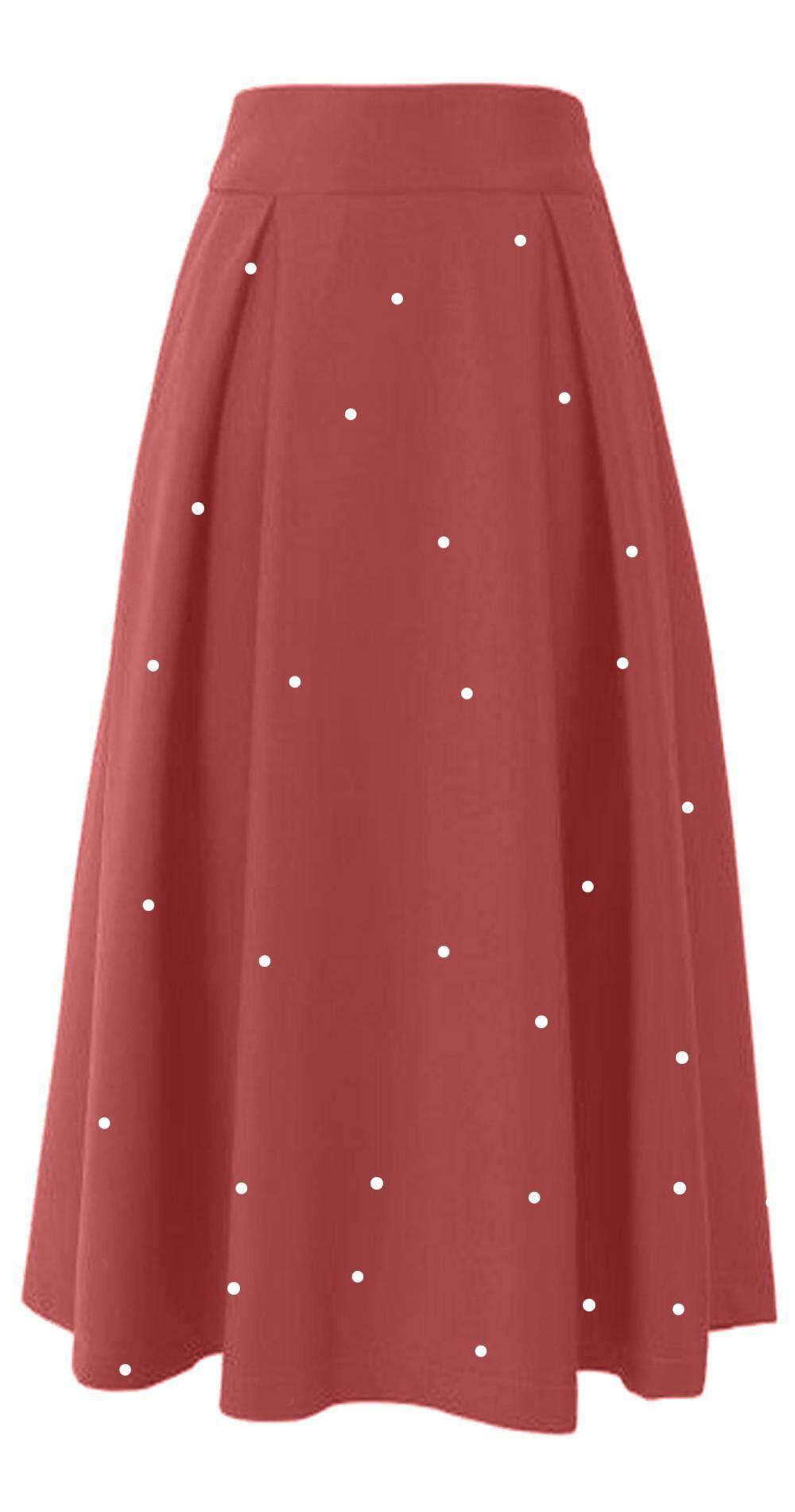 Long Skirt Crystal Design Front Panel - Starlet