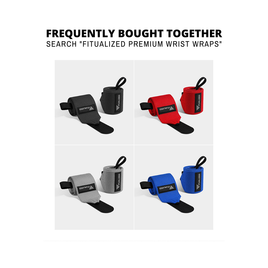 FITUALIZED Premium Ankle Straps for Cable Machines (Pair)- Extra Comfy & Padding- Double D-Ring- Adjustable Cuffs- Strong Fastening- Enjoy Lower Body Workouts, Exercises & Training- Enhance Legs, Abs & Glutes for Men & Women- Get in Your Best Shape Now