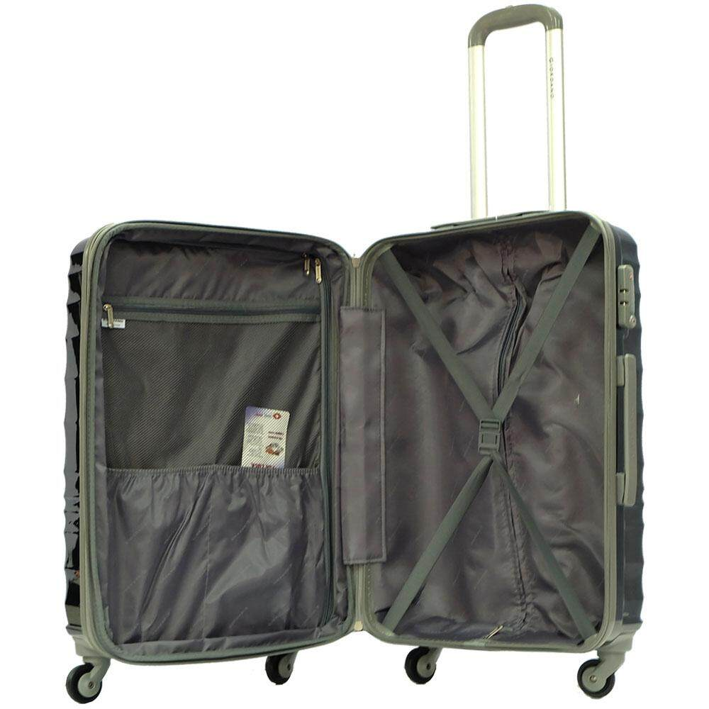 Giordano 24inch PC Hard Case Travel Luggage- BQ1206 (Black)