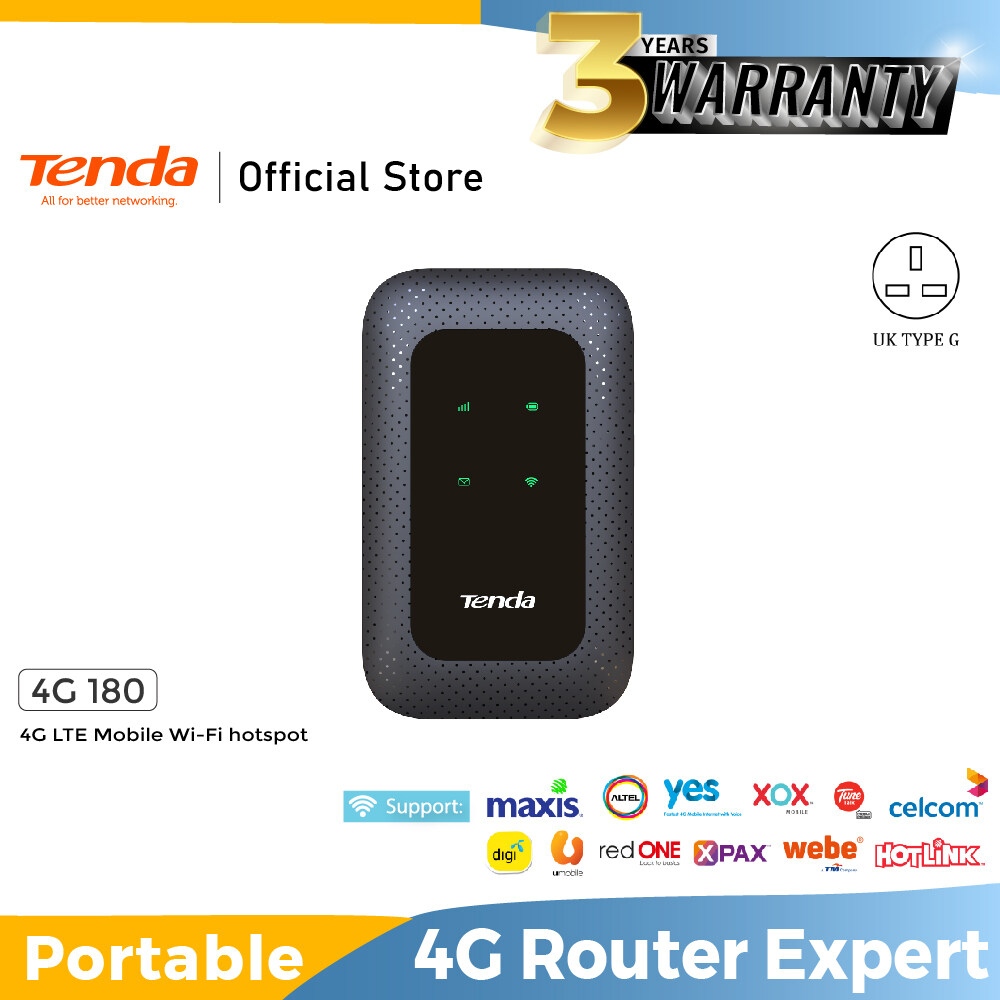 Tenda 4G180 4G LTE Mobile/Portable Wi-Fi Hotspot/Mifi/Pocket Router