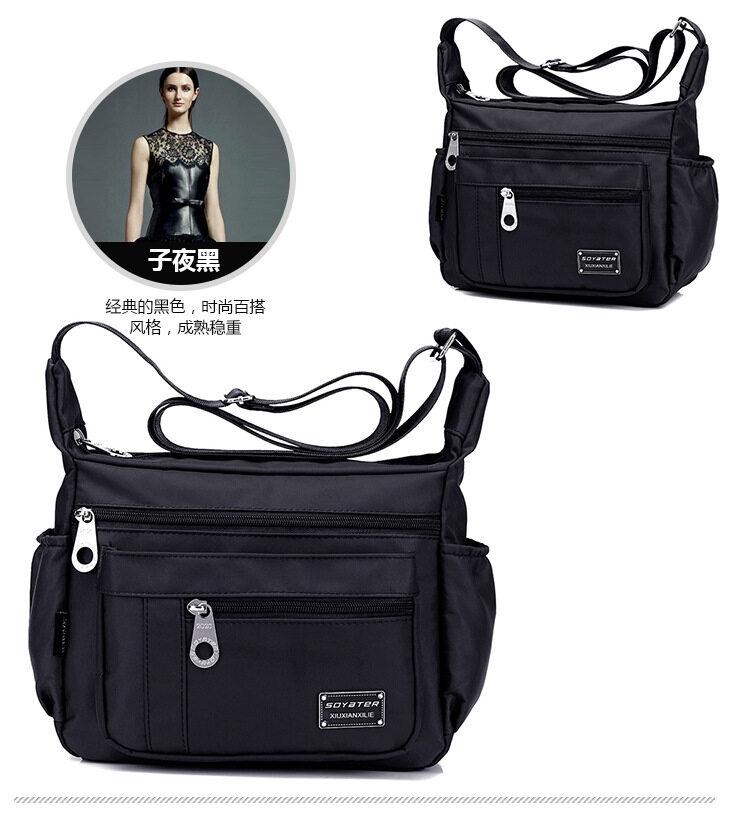 Water-resistant Nylon Multi Pocket Shoulder Messenger Crossbody Bags