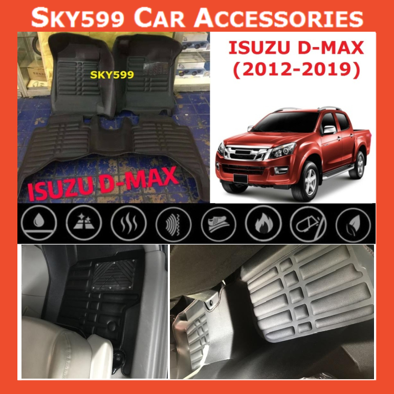 Isuzu D-Max 2012-2020 5D Car Floor Mat/Carpet