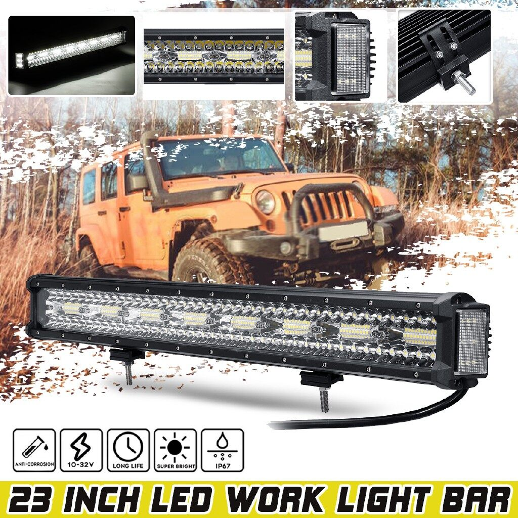 Car Lights - 23Inch 176W IP67 Work Light Bar Combo Driving Lamp Offroad SUV ATV UTV 4WD - Replacement Parts