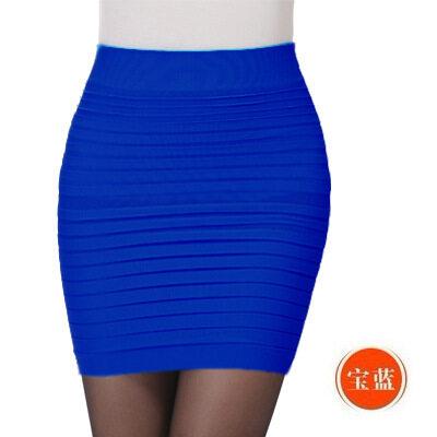 (LOCAL SELLER) Summer Women Skirt High Waist Pleated Skirt Candy Color Knitted Elastic Mini Skirt Sexy Office Lady Short Skirts