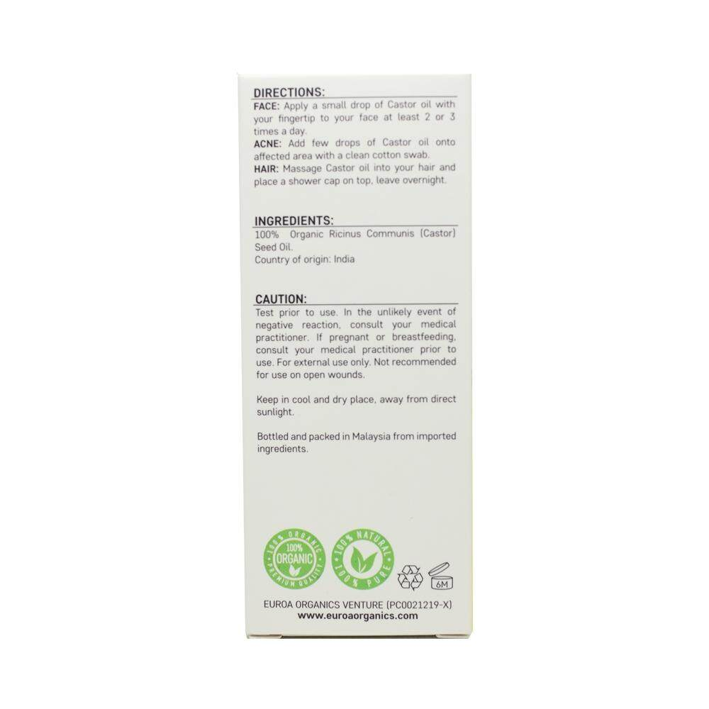 EUROA ORGANICS Castor Oil (20ml)