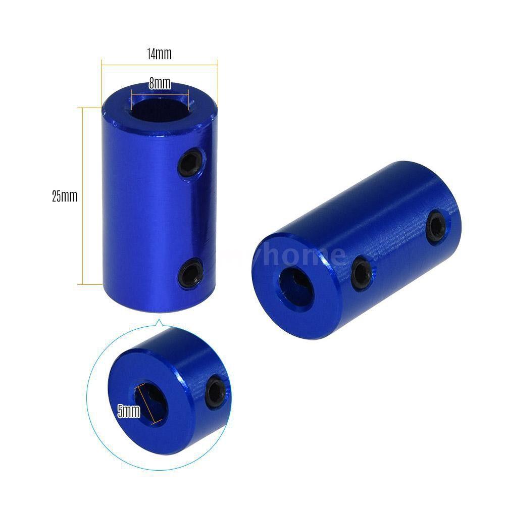 Printers & Projectors - Aluminum Alloy Flexible Shaft Coupler 5mm8mm Coupling Bore Coupler Screw Part for Stepper - BLACK-5MM 8MM / BLACK-5MM 5MM / BLUE-8MM 8MM / BLUE-5MM 8MM / BLUE-5MM 5MM
